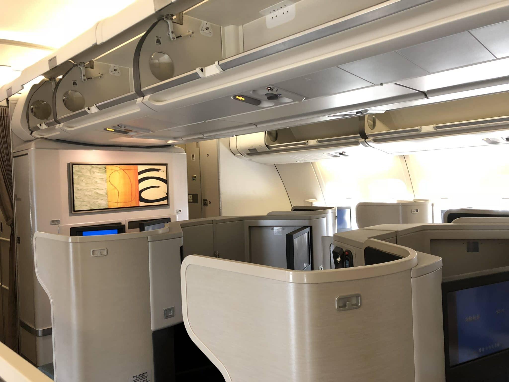 Cathay Pacific Business Class A330 Kabine von hinten