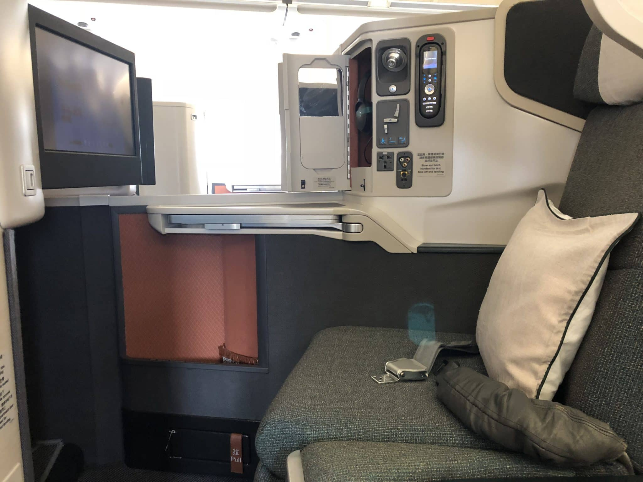 Cathay Pacific Business Class A330 Sitz Mitte