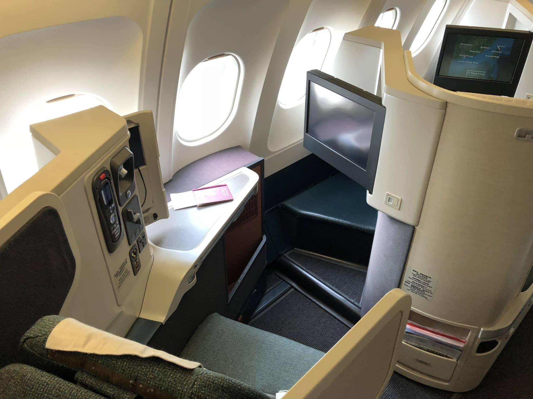 Cathay Pacific Business Class A330 Sitz von hinten