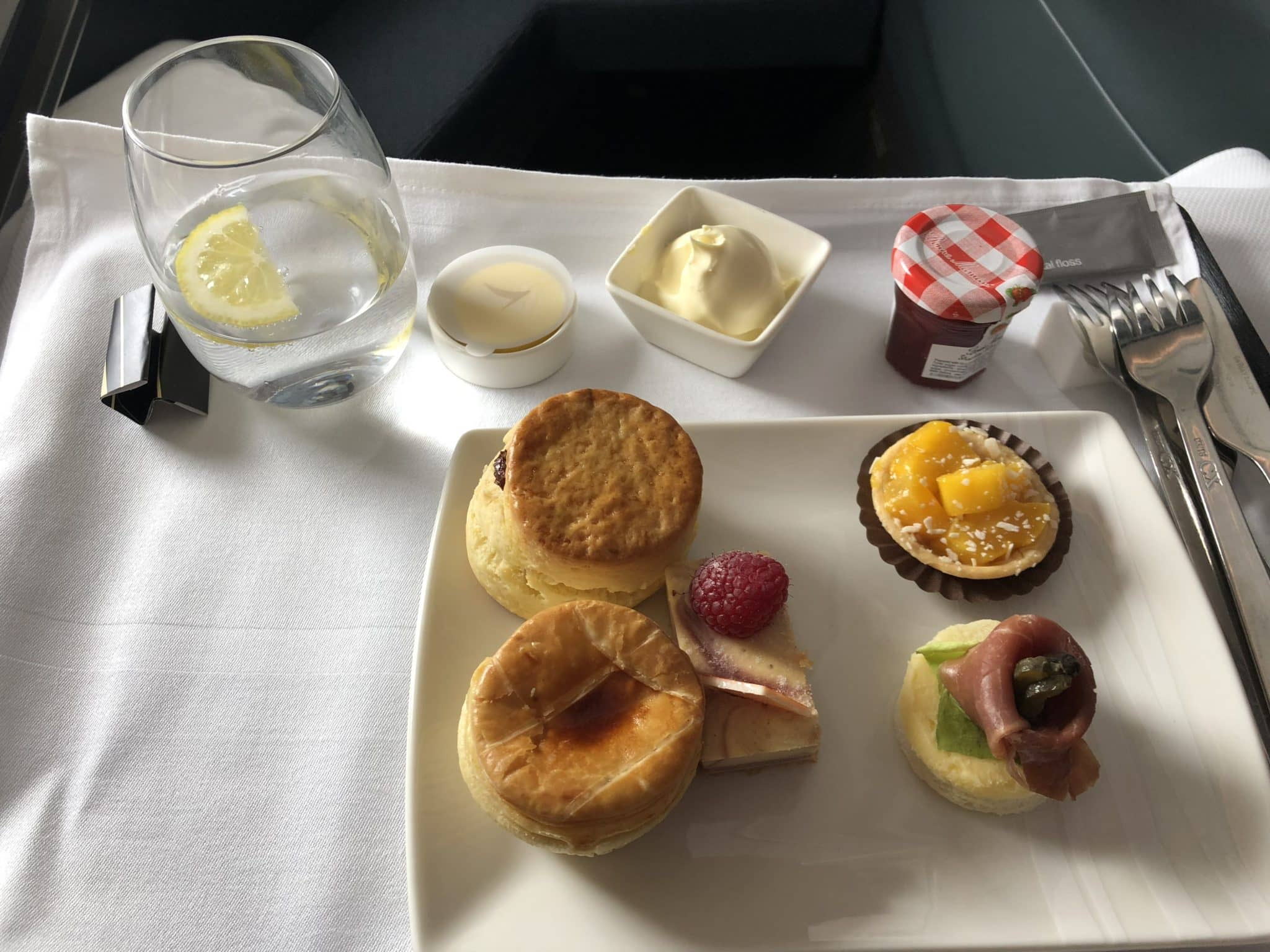 Cathay Pacific Business Class A350-1000 Afternoon Tea