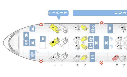 Cathay Pacific First Class Boeing 777-300 Sitzplan
