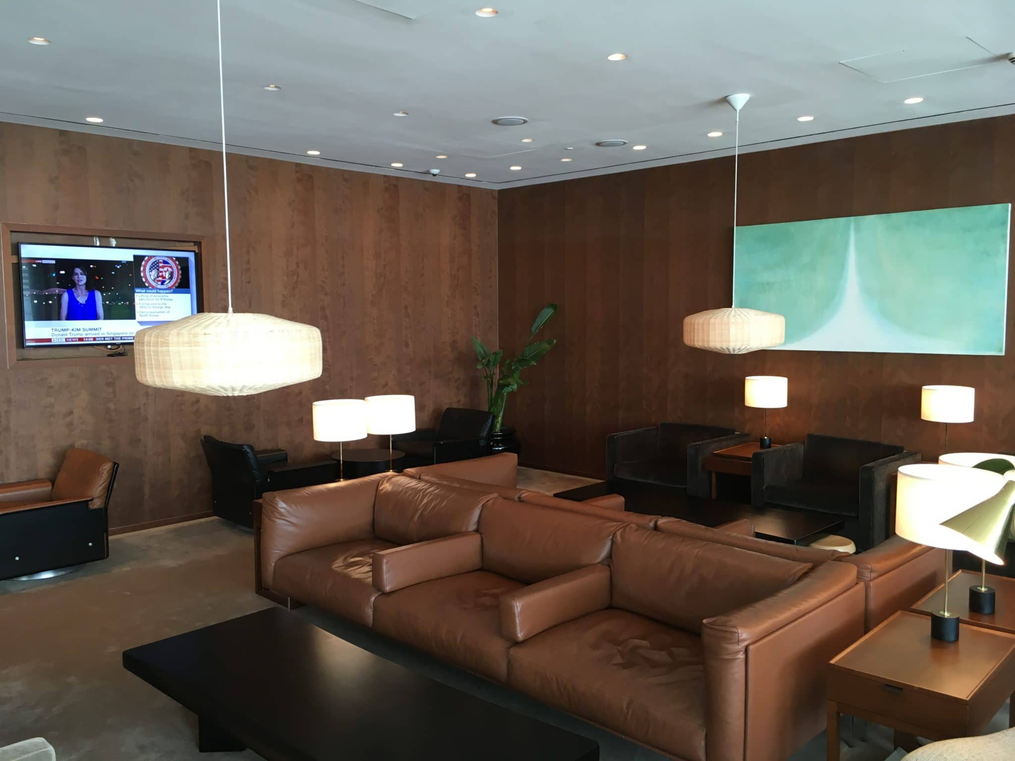 Cathay Pacific Business Class Lounge London Sitzbereich