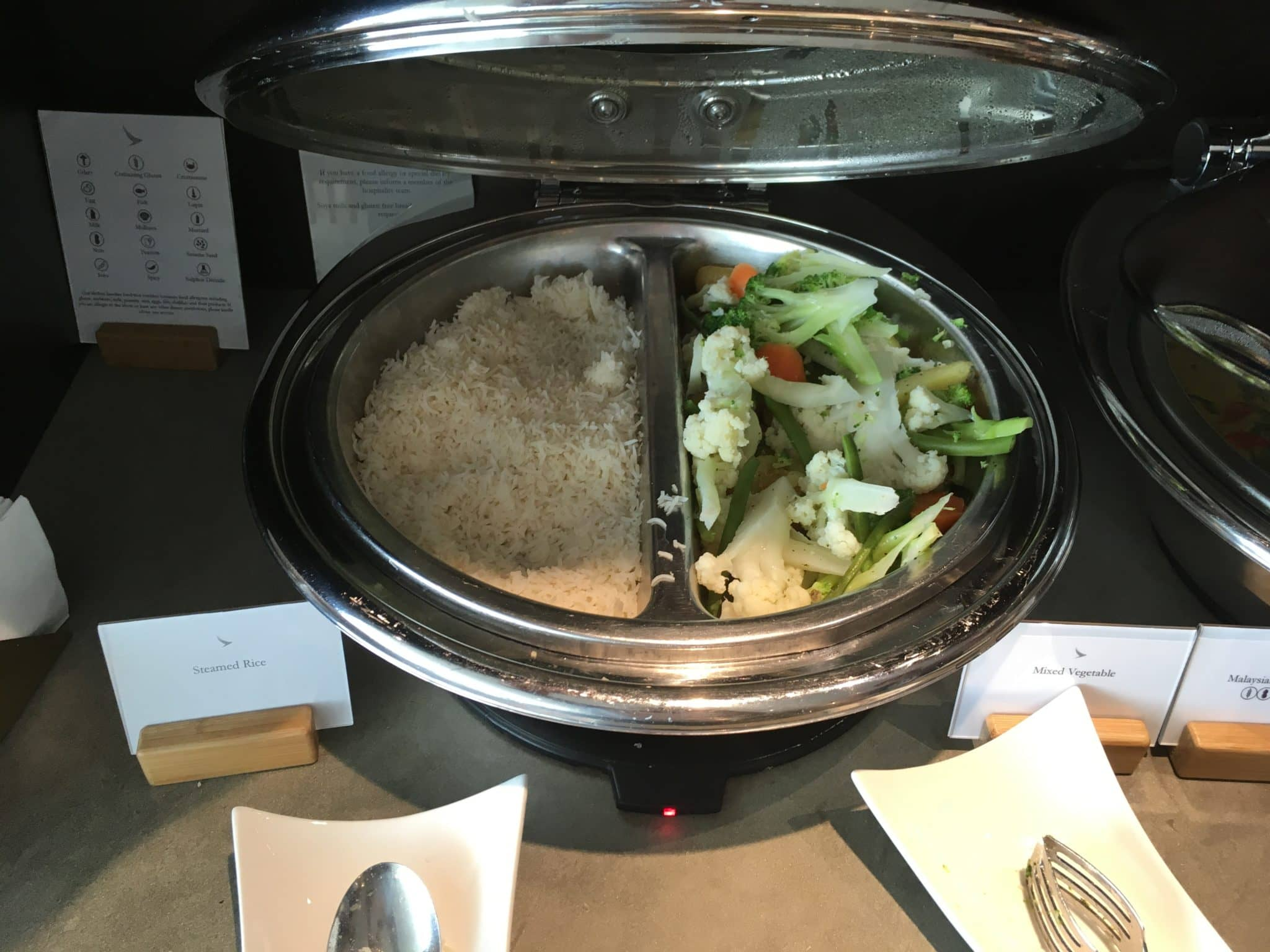 Cathay Pacific Business Class Lounge London Reis und Gemuese