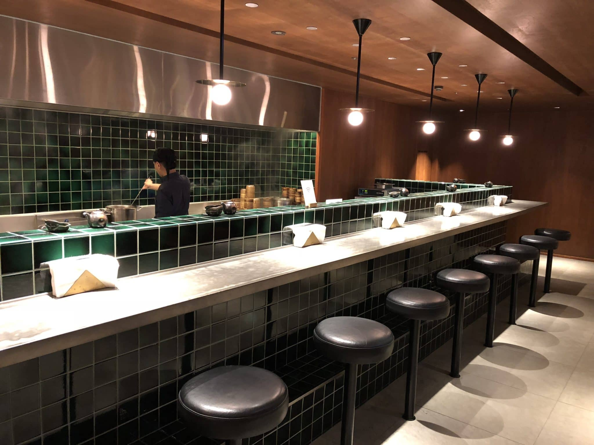 Cathay Pacific Business Class Lounge Taiwan-Taoyuan Cooking Station