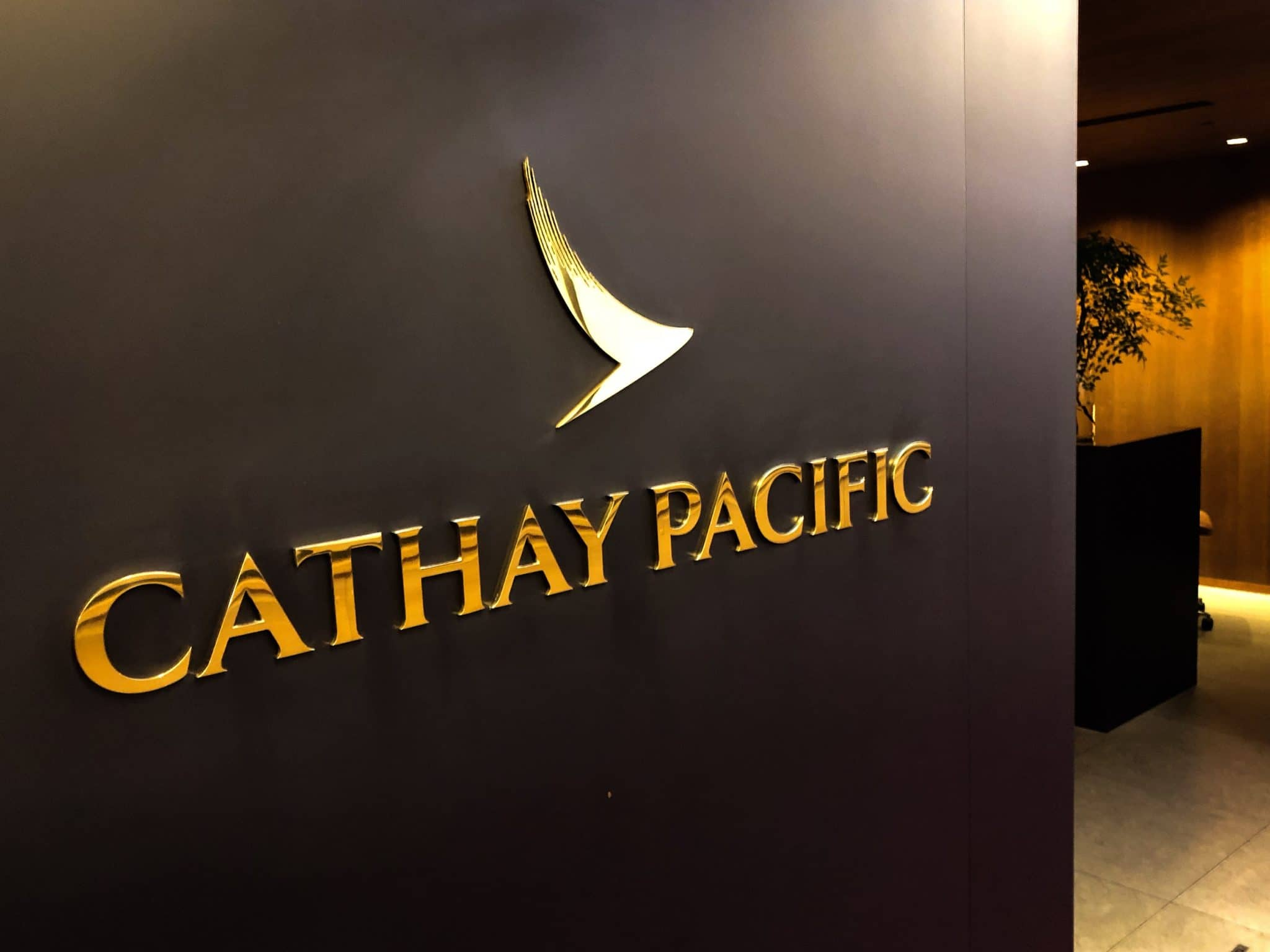 Cathay Pacific Business Class Lounge Taiwan-Taoyuan Cathay Logo