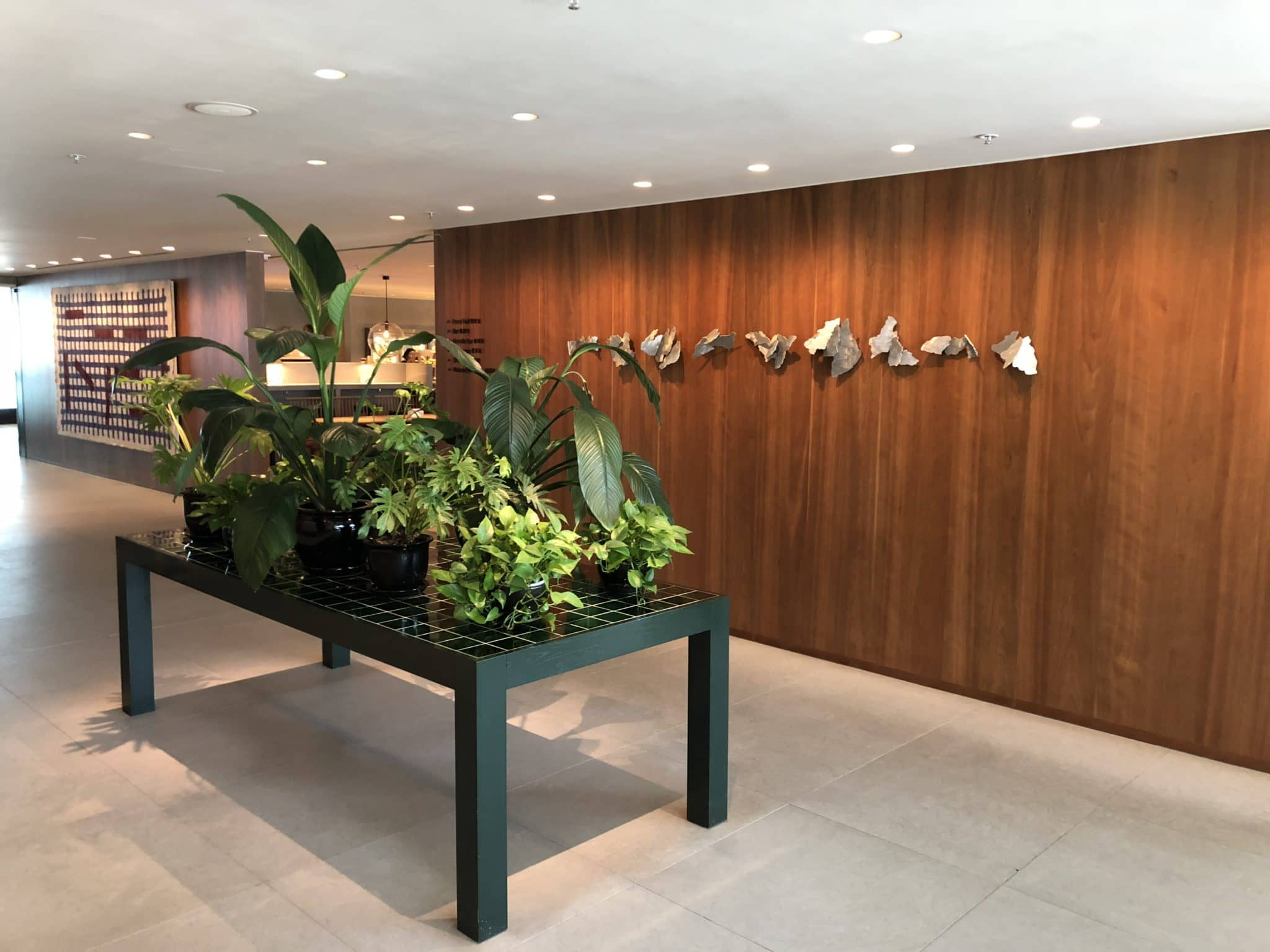 Cathay Pacific Business Class Lounge The Pier Eingangsbereich