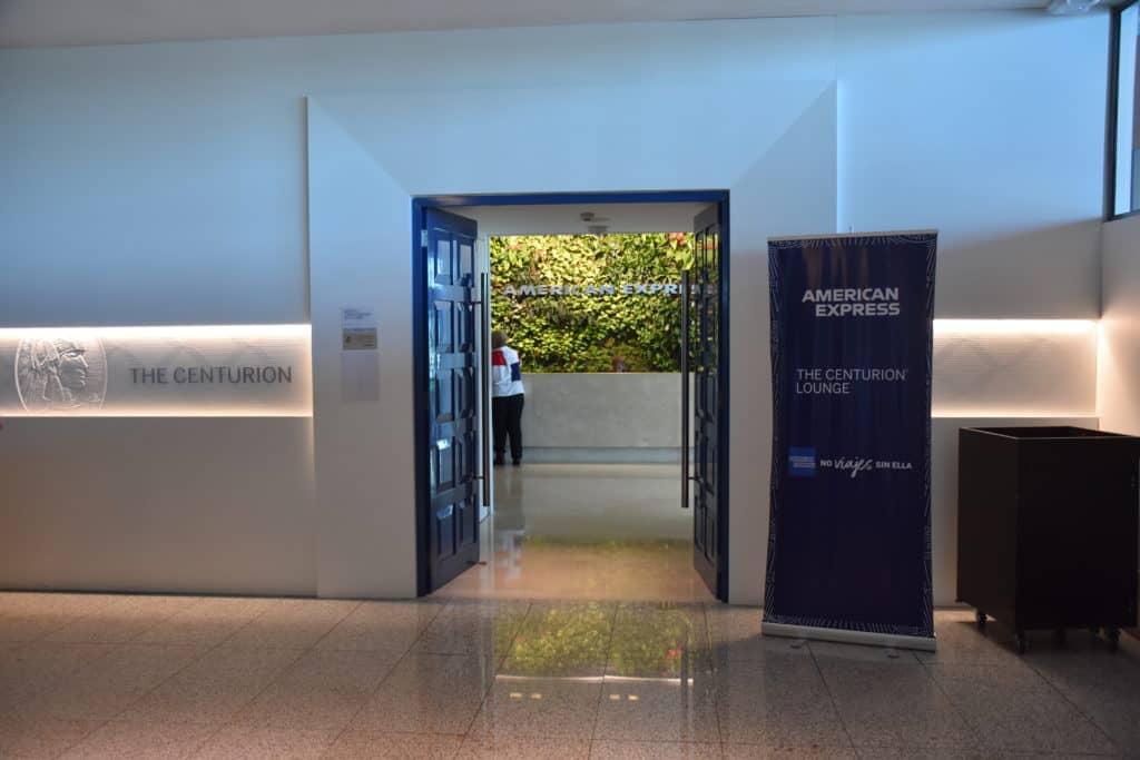 Eingang zur American Express Centurion Lounge Buenos Aires