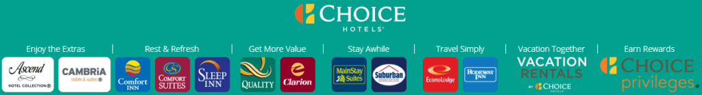Elf Hotelmarken und eine Reihe unabhängig geführter Hotels der Ascend Collection gehören den Choice Hotels an