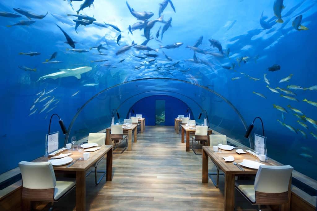 Das Conrad Maldives Rangali Island - eines von zahlreichen Hotels der Hilton Gruppe &copy Conrad Hotels & Resorts