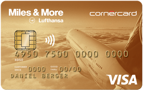 Cornercard Miles and More Gold