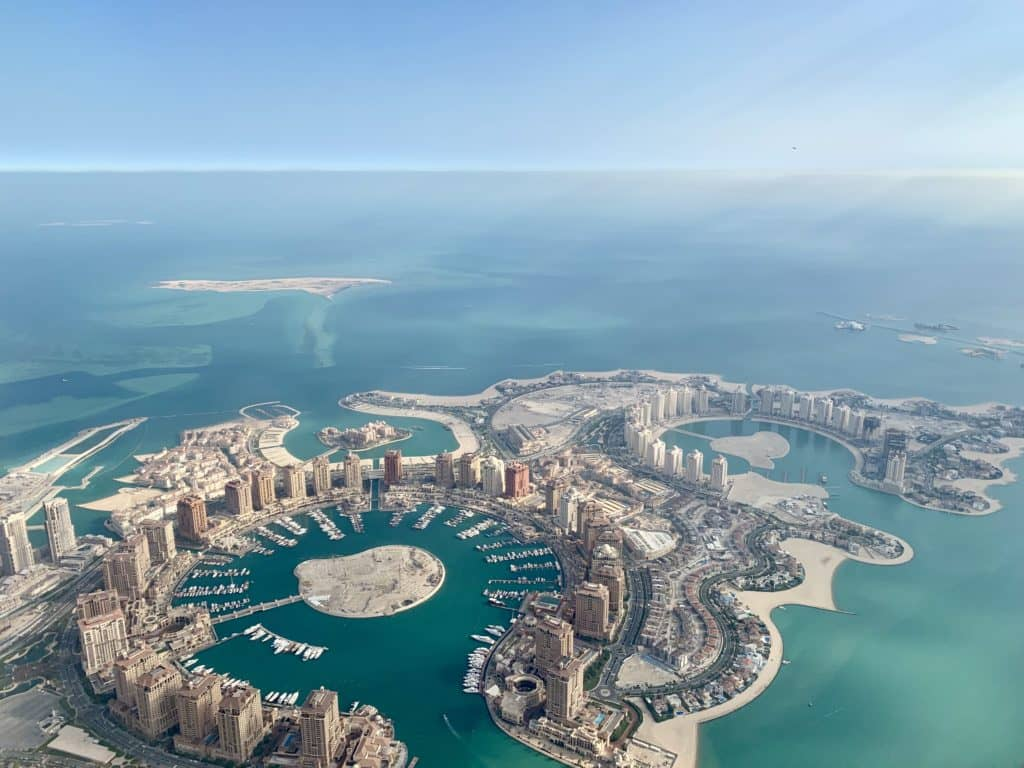 Doha aus der Luft