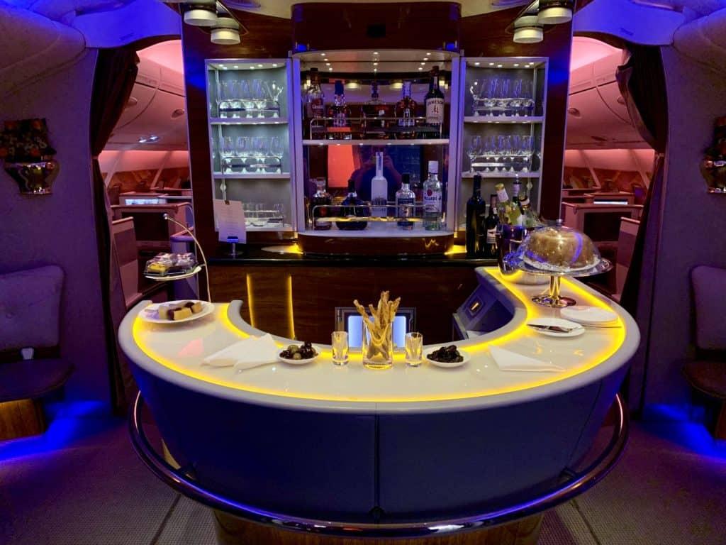 Emirates First Class A380 Bar