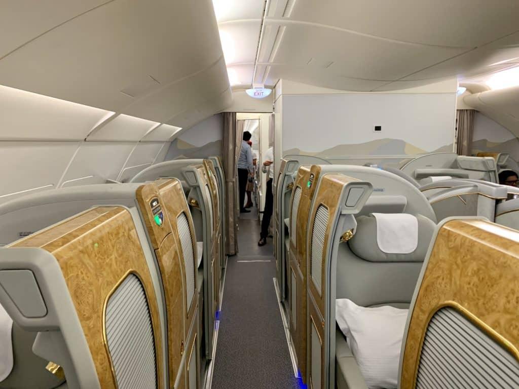 Emirates First Class A380 Kabine