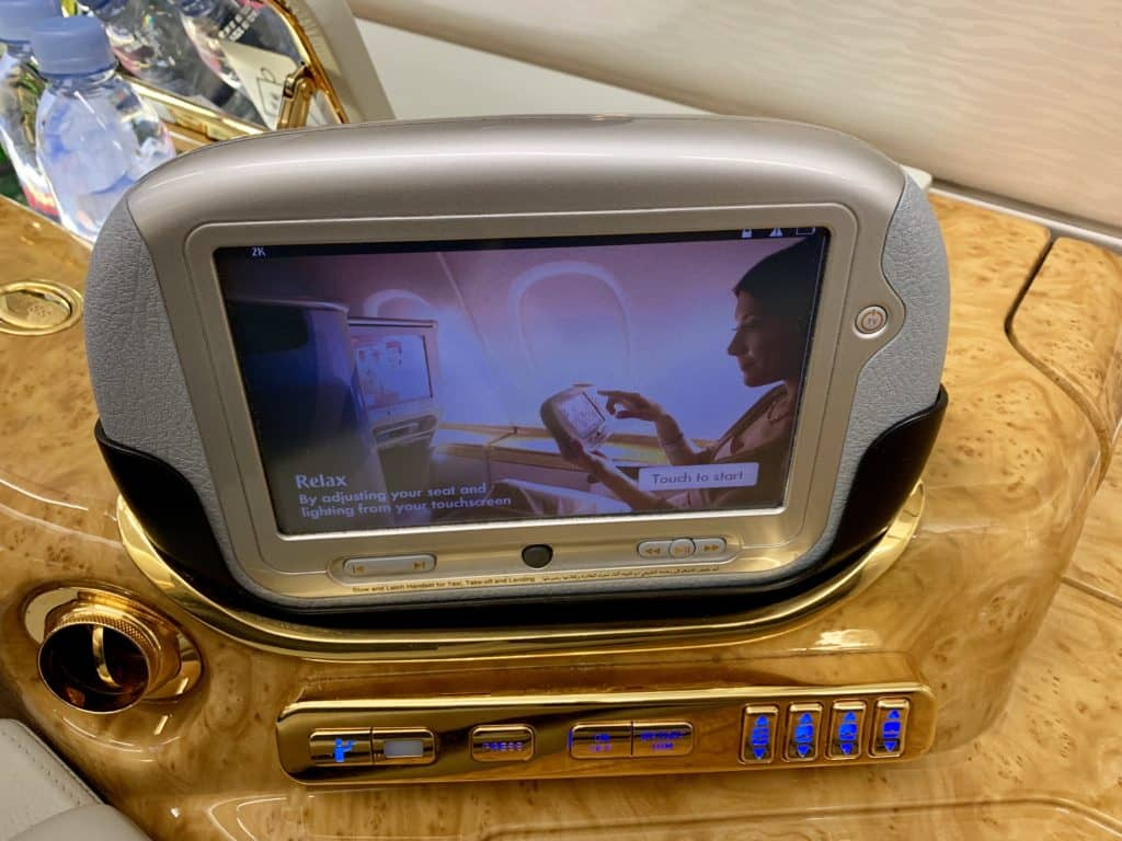 Emirates First Class A380 Tablet
