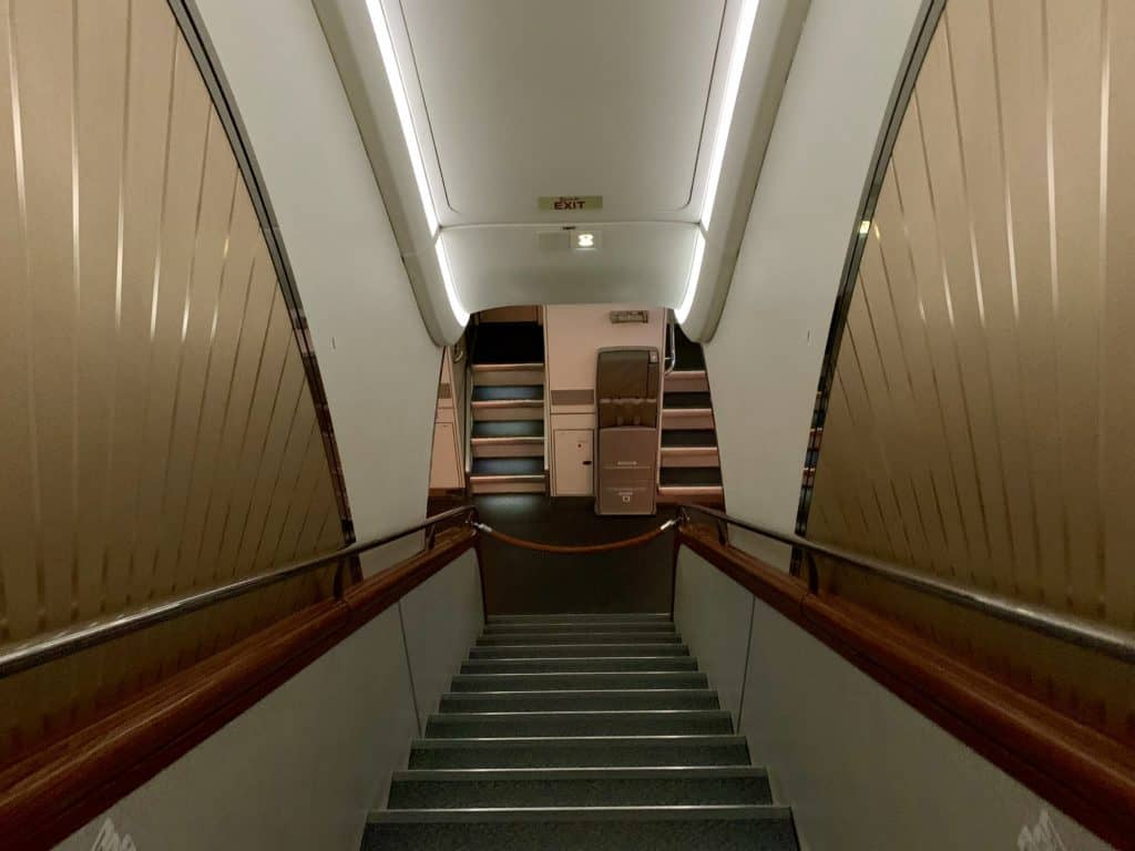 Emirates First Class A380 Treppe