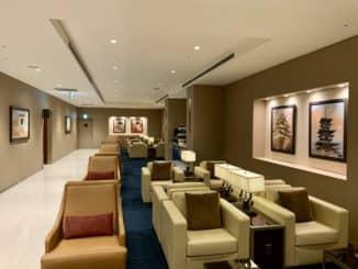 Emirates Lounge Tokio Sessel