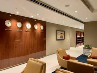 Emirates Lounge Tokio Narita Uhren