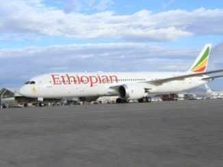 Maschine der Ethiopian Airlines