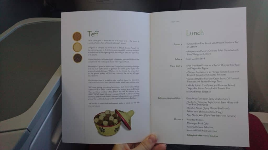Ethiopian-Airlines-Business-Class-Boeing-787-8-Speisekarte-Lunch