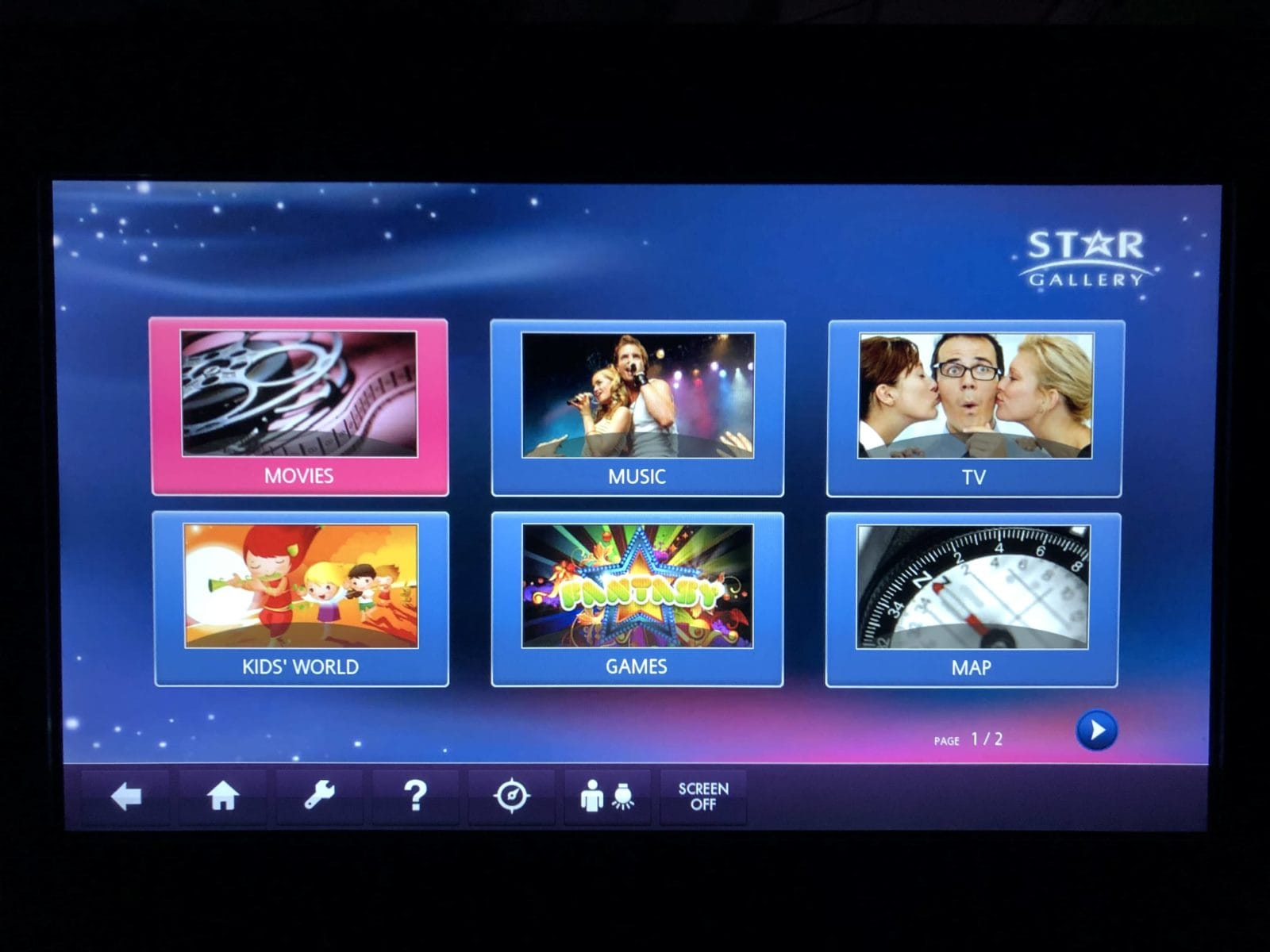 EVA Air Business Class A330-300 Menü Entertainment