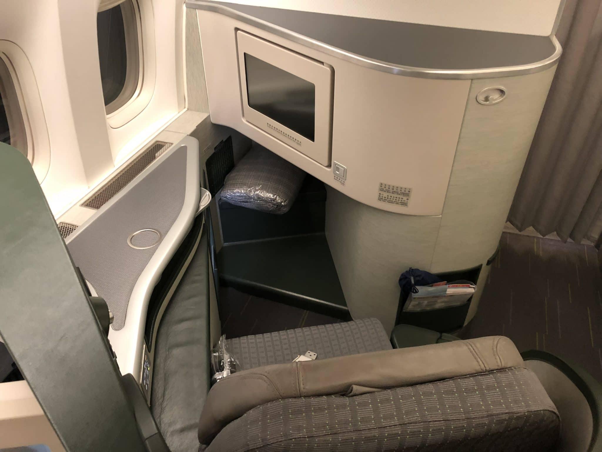 EVA Air Business Class Boeing 777-300 Sitz von hinten