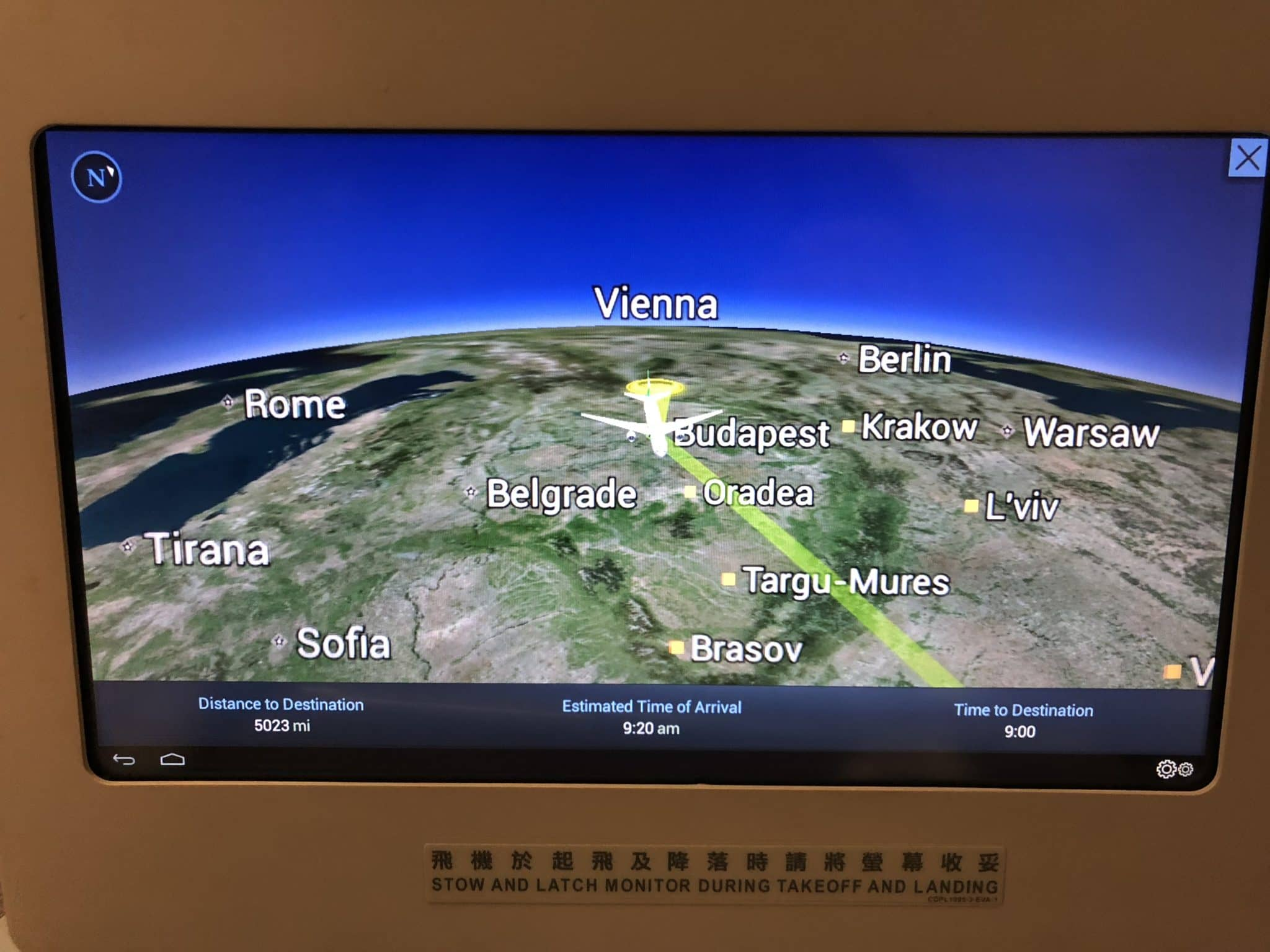 EVA Air Business Class Boeing 777-300 Start ab Wien