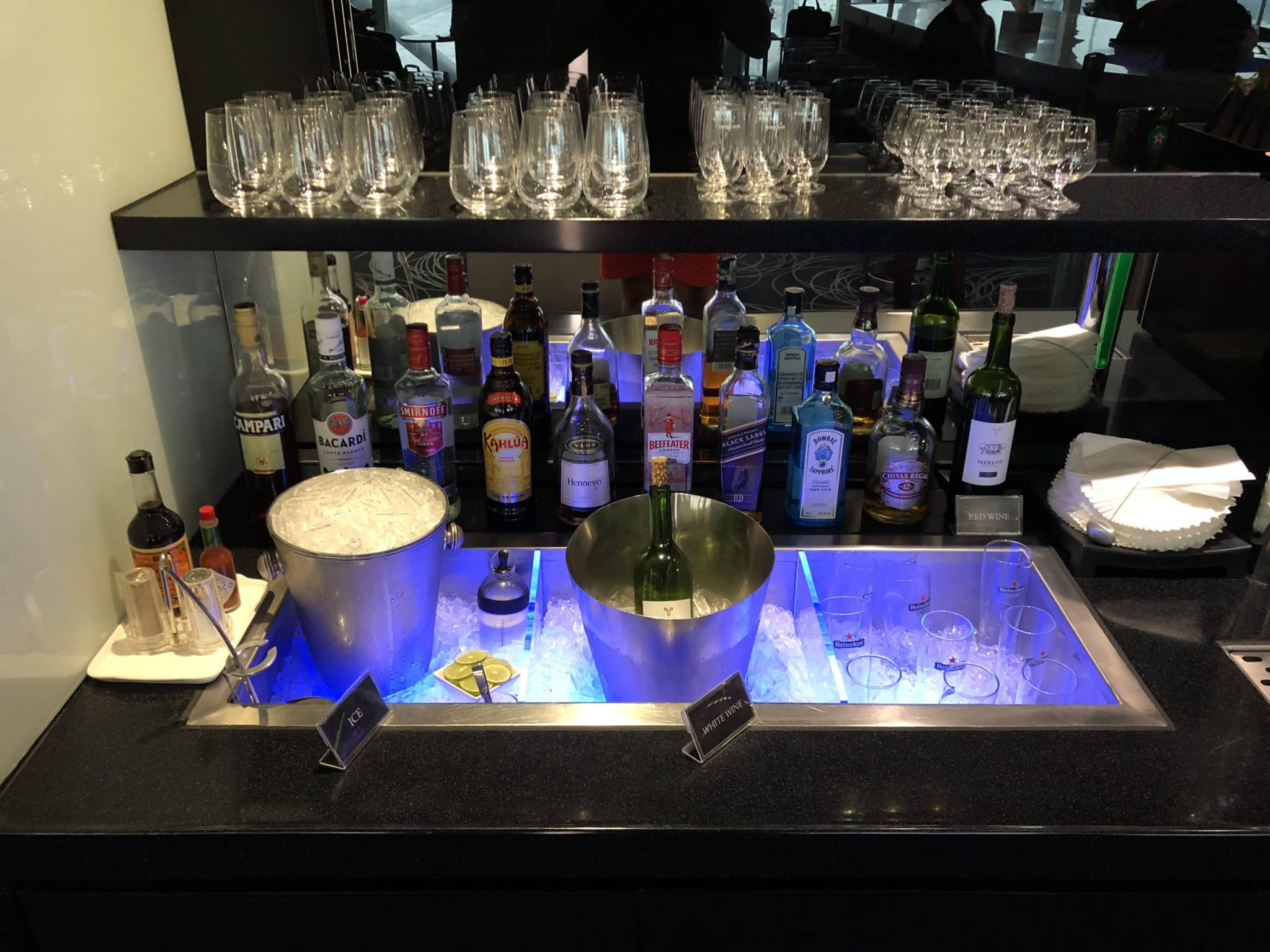 EVA Air Lounge Bangkok Alkohol