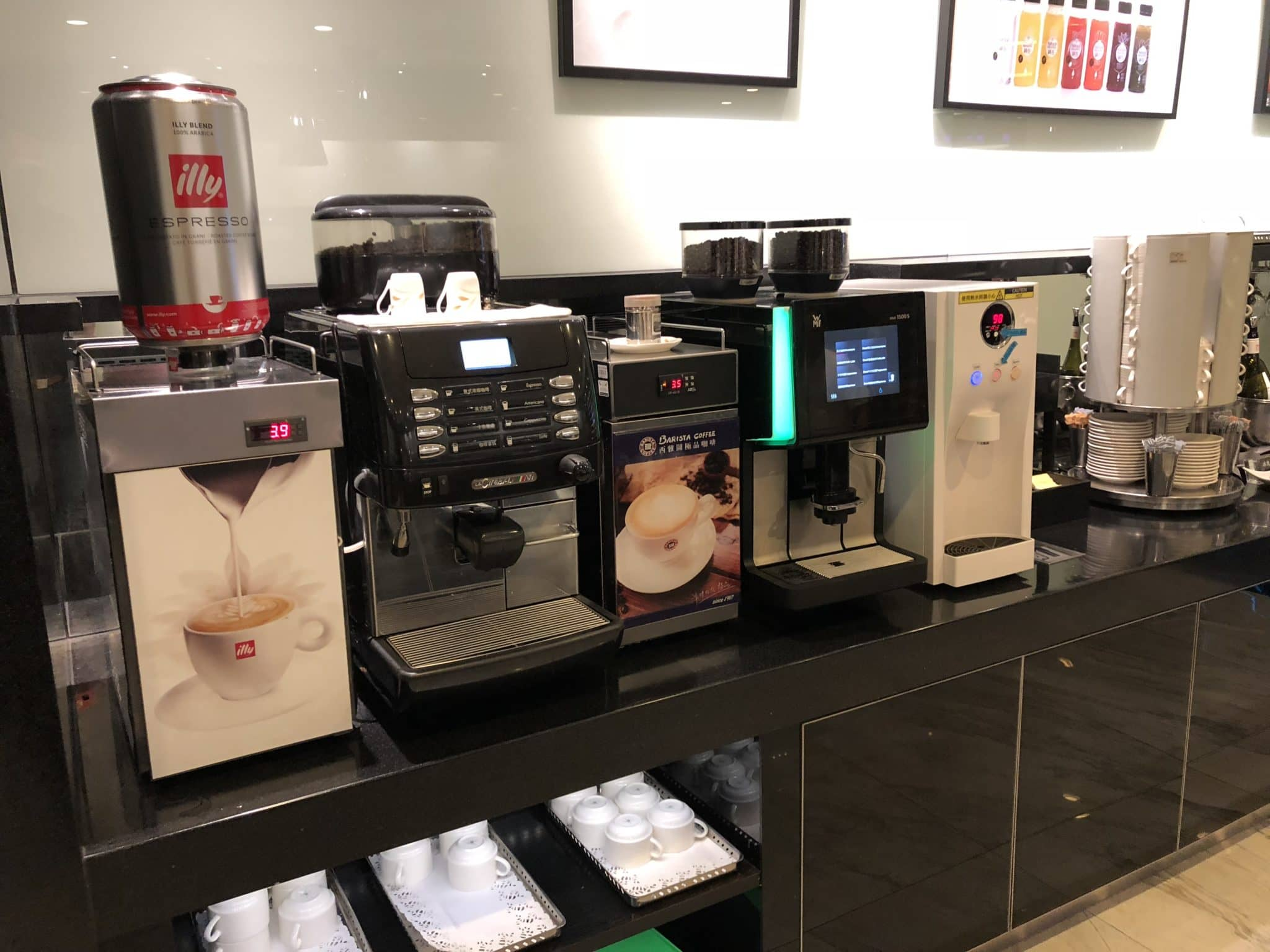 EVA Air Lounge The Infinity Kaffeemaschine