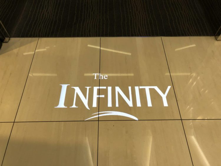 EVA Air Lounge The Infinity Logo