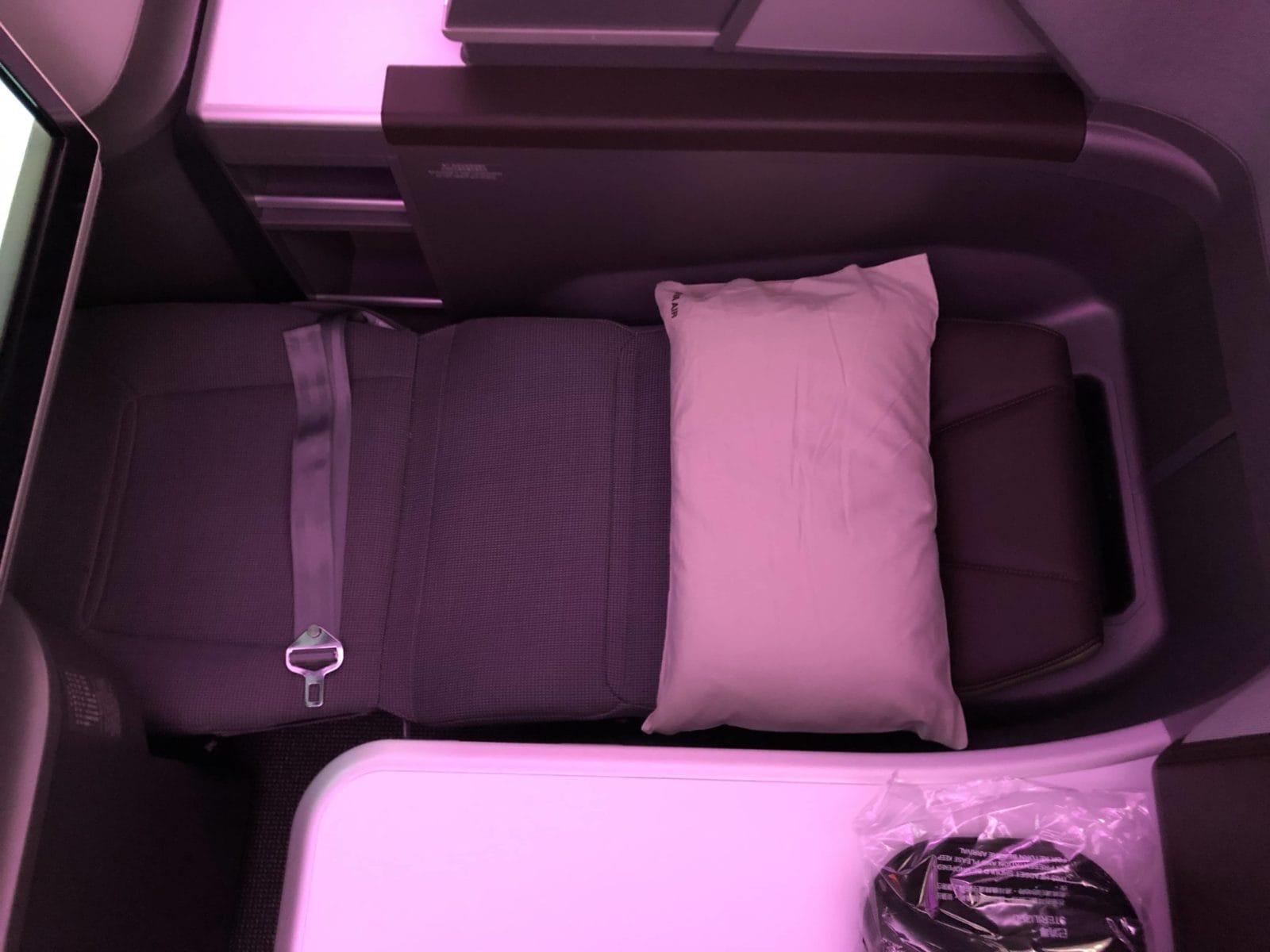 EVA Air neue Business Class 787-9 Bett von oben