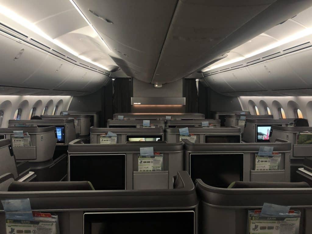 EVA Air neue Business Class 787-9 Blick von hinten Kabine