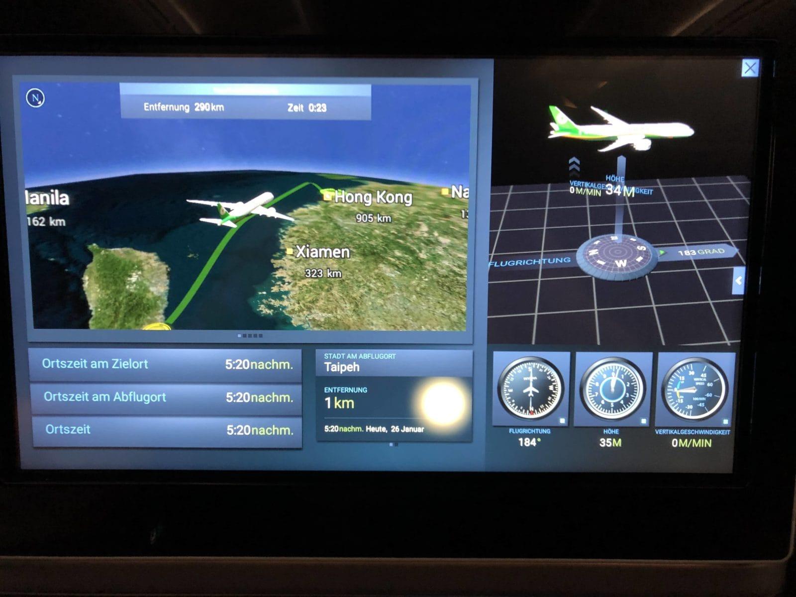 EVA Air neue Business Class 787-9 Kontrollzentrum