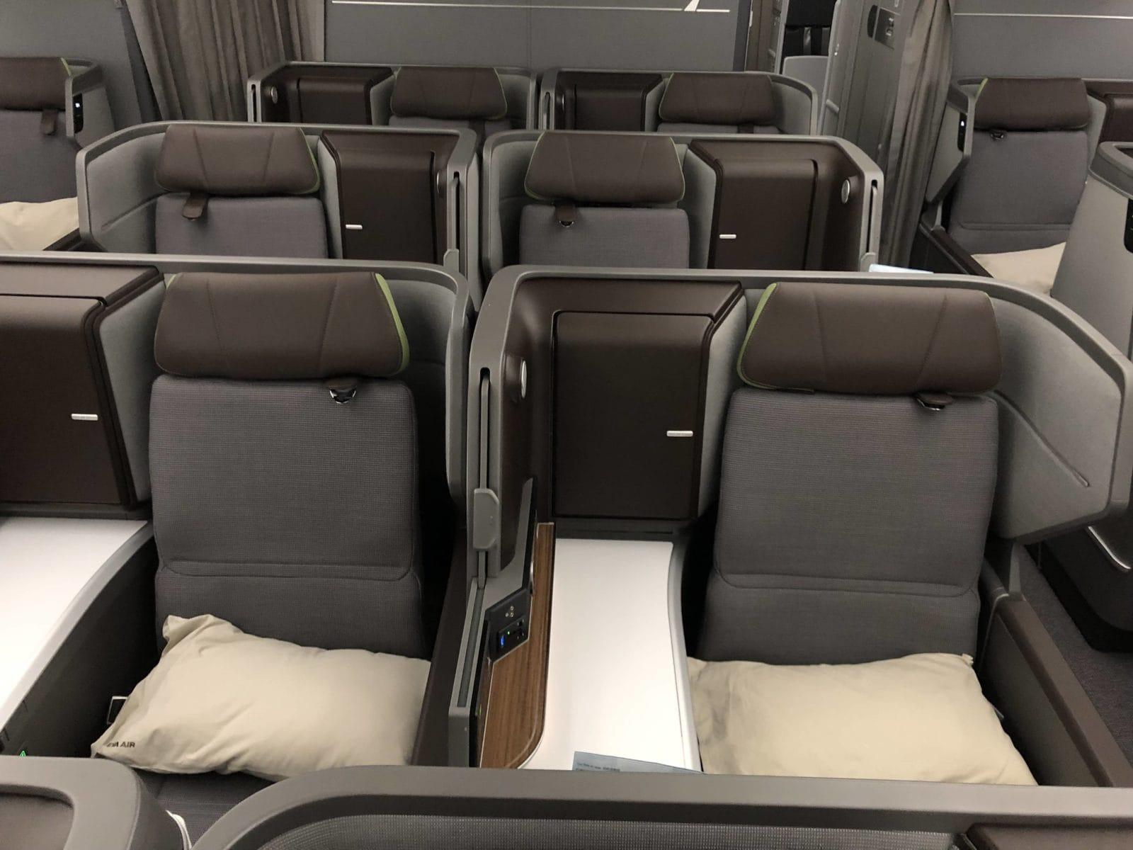 EVA Air neue Business Class 787-9 Sitzreihen hinten