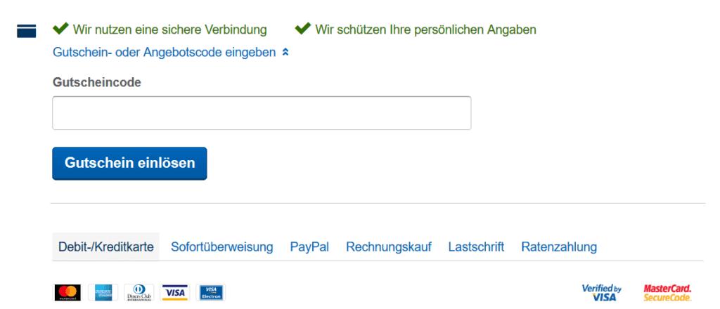Expedia Gutschein einlösen...