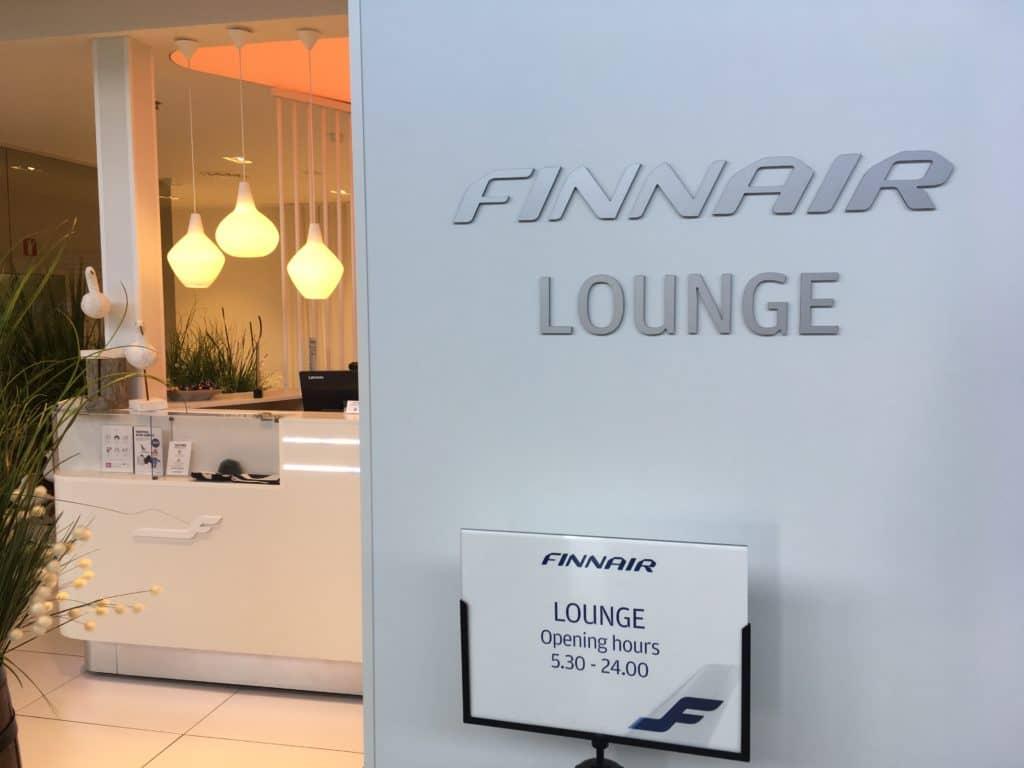 Eingang zur Finnair Lounge Helsinki Non-Schengen Bereich