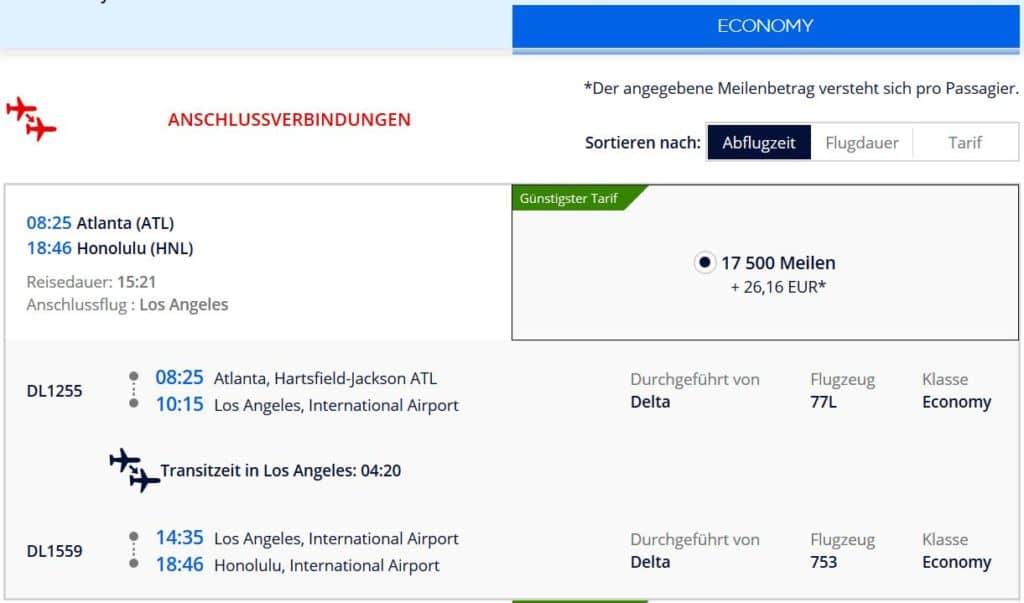 Flying Blue Prämienflug mit Delta von Atlanta nach Hawaii: 17.500 Flying Blue Meilen und 26€