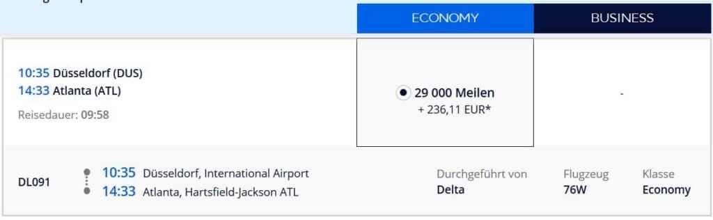 Flying Blue Prämienflug von Düsseldorf nach Atlanta: 29.000 Flying Blue Meilen und 236€