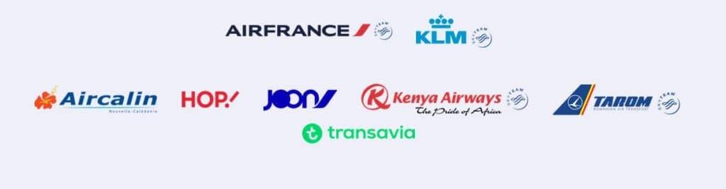 Flying Blue ist das Vielfliegerprogram von 8 Airlines