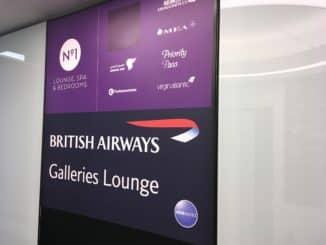 British Airways Galleries Lounge Heathrow Terminal 3 Logo