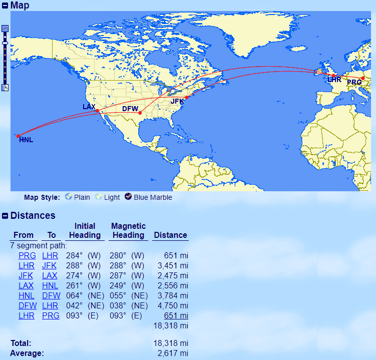 Wie viele Meilen erhalte ich für meinen Flug ...
