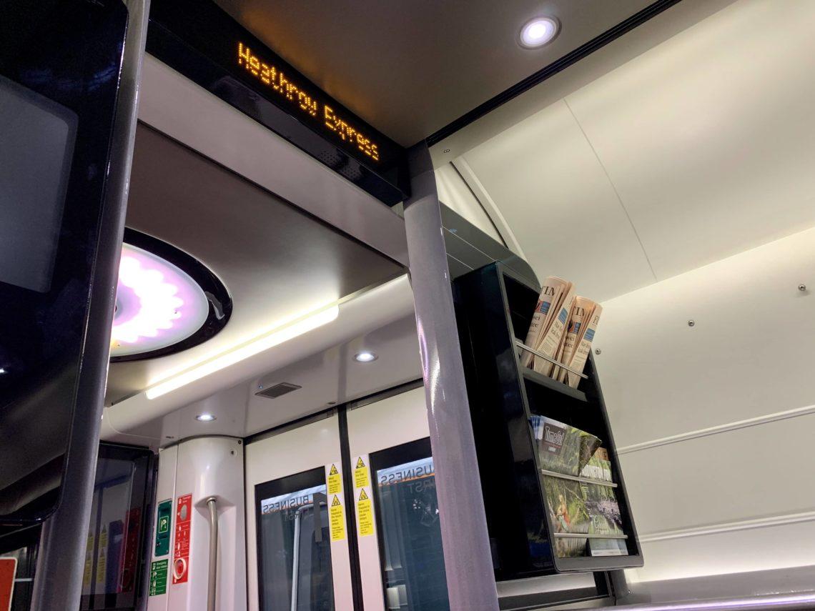 Heathrow Express Business First Class Zeitschriften