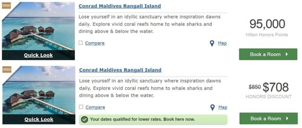 95.000 Hilton Honors Punkte pro Nacht: Conrad Maldives
