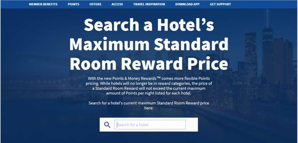 Hilton Honors Punkte einlösen: Die maximale Anzahl an Punkte für eine Übernachtung kann ausgerechnet werden