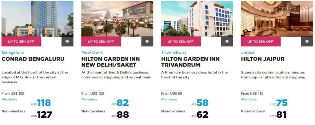 Hilton India Festivals Sale Beispiele © Hilton