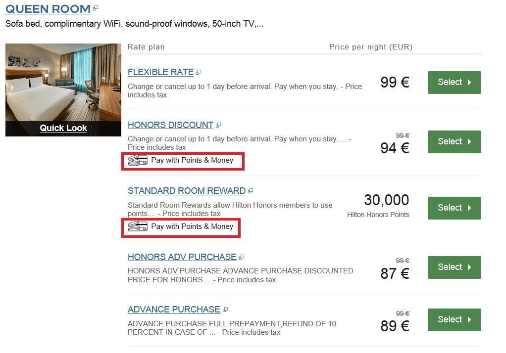 Points & Money Option für das Garden Inn Frankfurt Airport