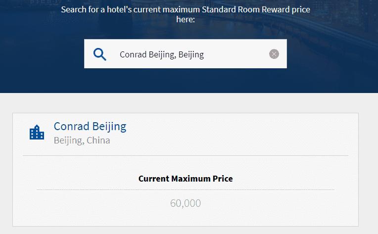 Punkterechner für ein Standard Zimmer