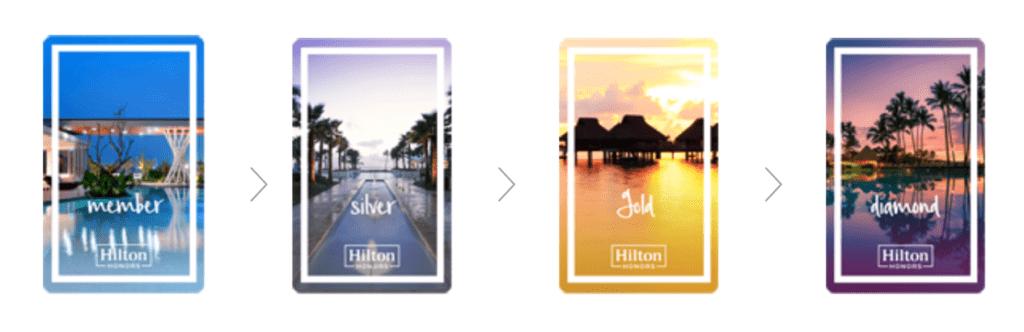 Die Hilton Honors Statuslevel