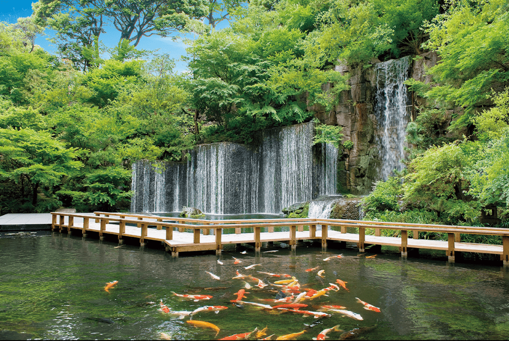Garten des Gajoen Hotels in Tokyo © Gajoen Hotel