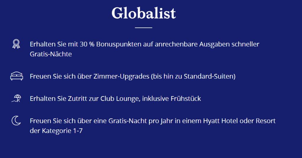 Spezielle Hyatt Globalist Vorteile im Überblick