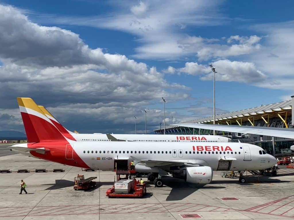 Iberia Flugzeuge am Flughafen Madrid